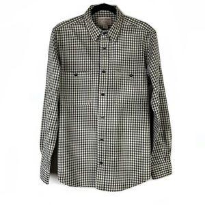 Filson Plaid Flannel Button Up Long Sleeve Shirt